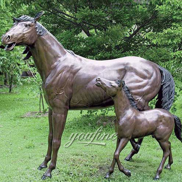 antique bronze standing horse sculpture for sale