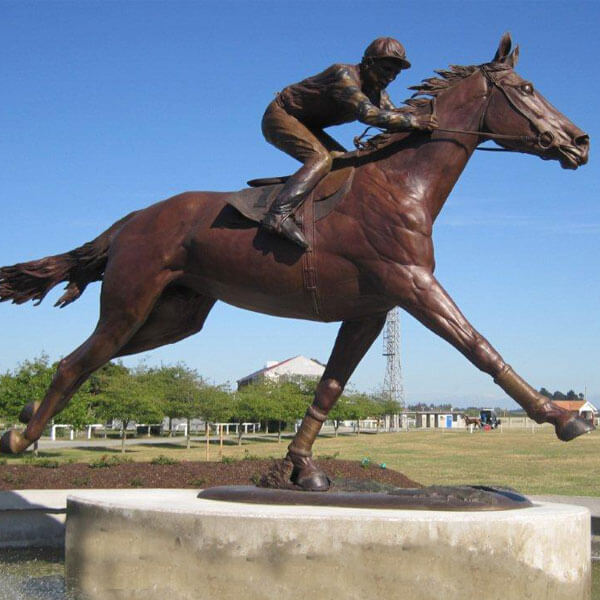 bronze horse statue with rocky sculpture for sale