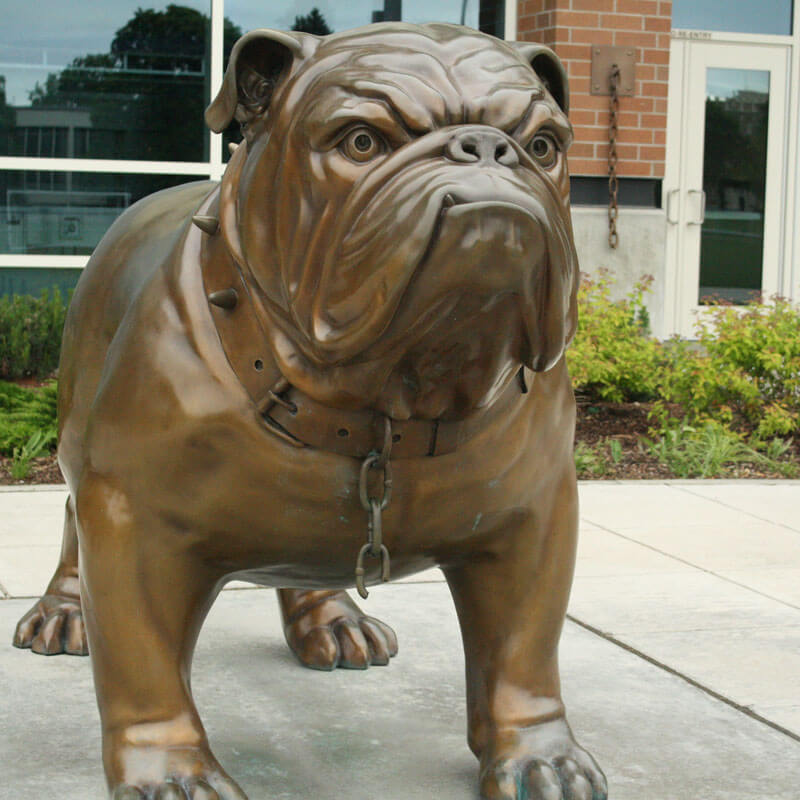large bronze bulldog statue for sale