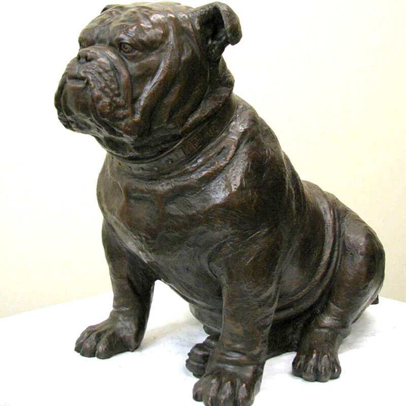 outdoor bulldog statue for sale