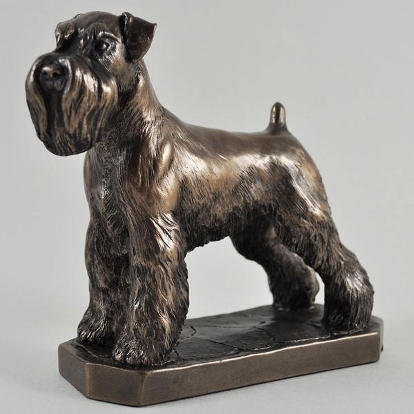 Cheap Animal Bronze Statue Hand Made Life Size Garden Decorative Bronze Schnauzer Dog Statue for Sale