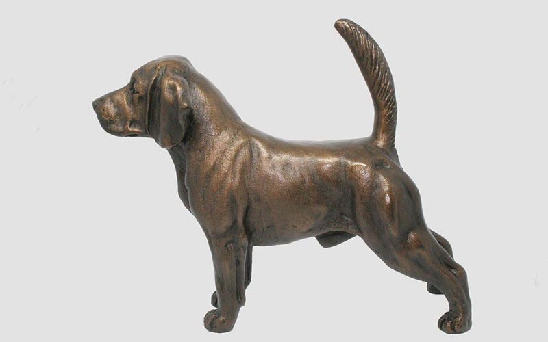 Discount Factory Directly Supply Life Size Vivid Commemorative Bronze Dog Statues for Garden Decor for Sale