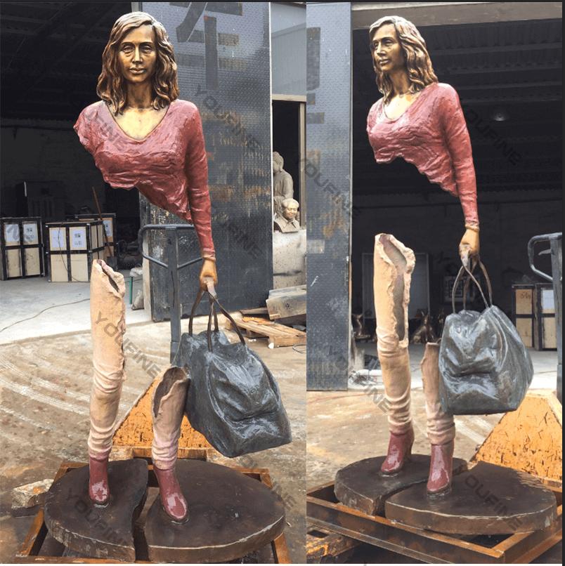 Famous France Sculptor Bruno Cataluno Sculpture Replica Custom Statue of Life Size figure in Bronze
