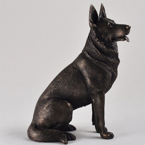 Life Size Dog Statue Unique Antique Bronze Handmade German Shepherd Statue for Sale
