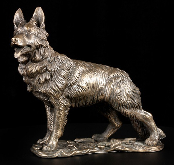 Life Size Dog Statue Unique Antique Bronze Handmade German Shepherd Statues for Sale