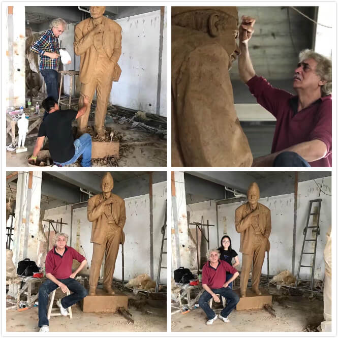 famous artist and our master custom statue of real person