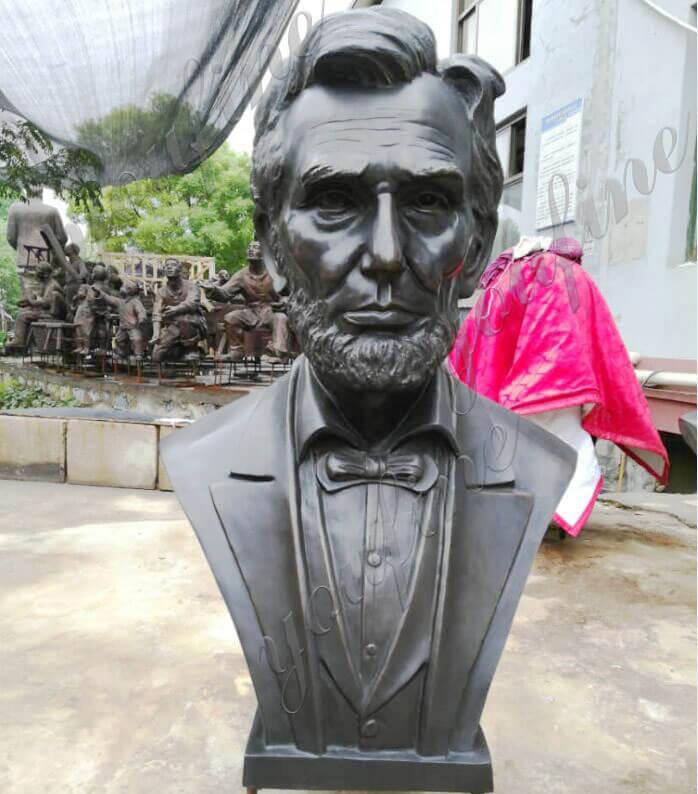 Abraham Lincoln Replica Custom Bust Statue in Bronze