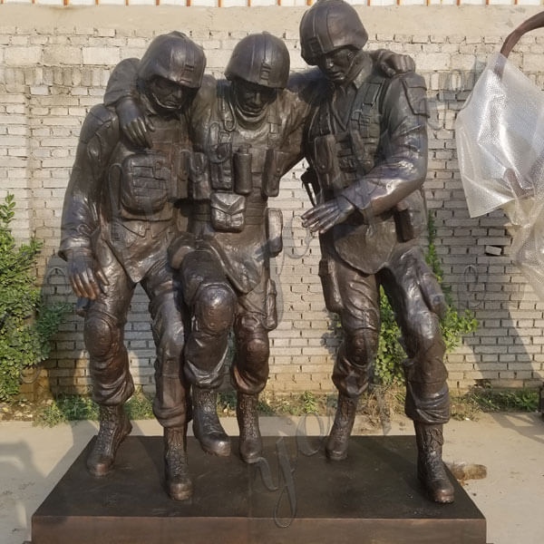 Custom Military Bronze Statues The Three Soldier Sculptures Memorial for public
