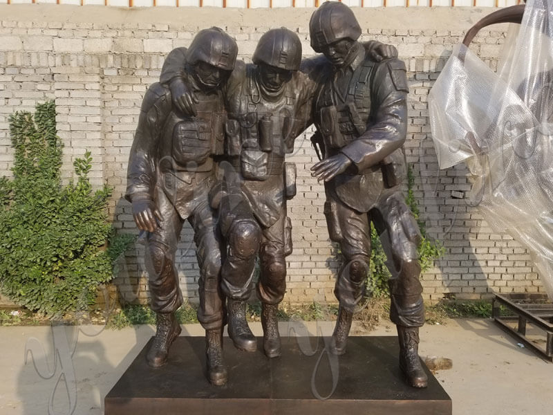 Custom-Military-Bronze-Statues-The-Three-Soldier-Sculptures