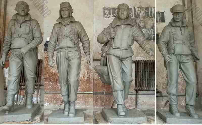 bronze Tuskegee Airmen Solider Statues Group for New York Museum