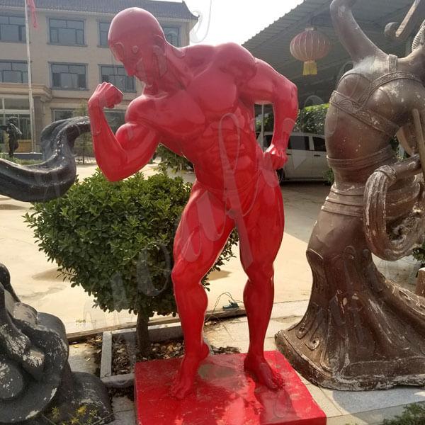 life size Bodybuilder Sculpture Bodybuilding Statue in Bronze Foundry
