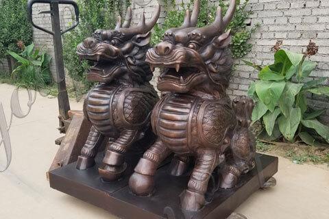 bronze Feng Shui Statue Kirin Sculpture Qilin sculptures for sale