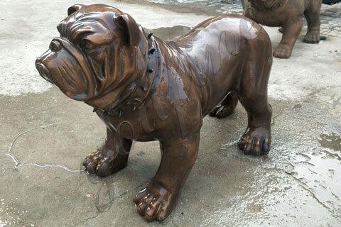 large garden-bronze-bulldog-statue-sculpture
