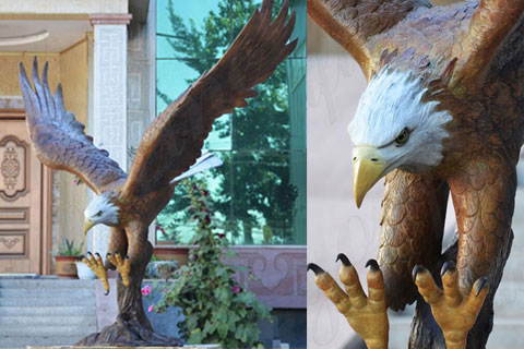 BES-01 ourdoor life size metal craft bronze eagle statue for sale