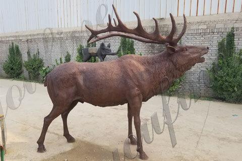 outdoor bronze life size elk statue sculpture for sale