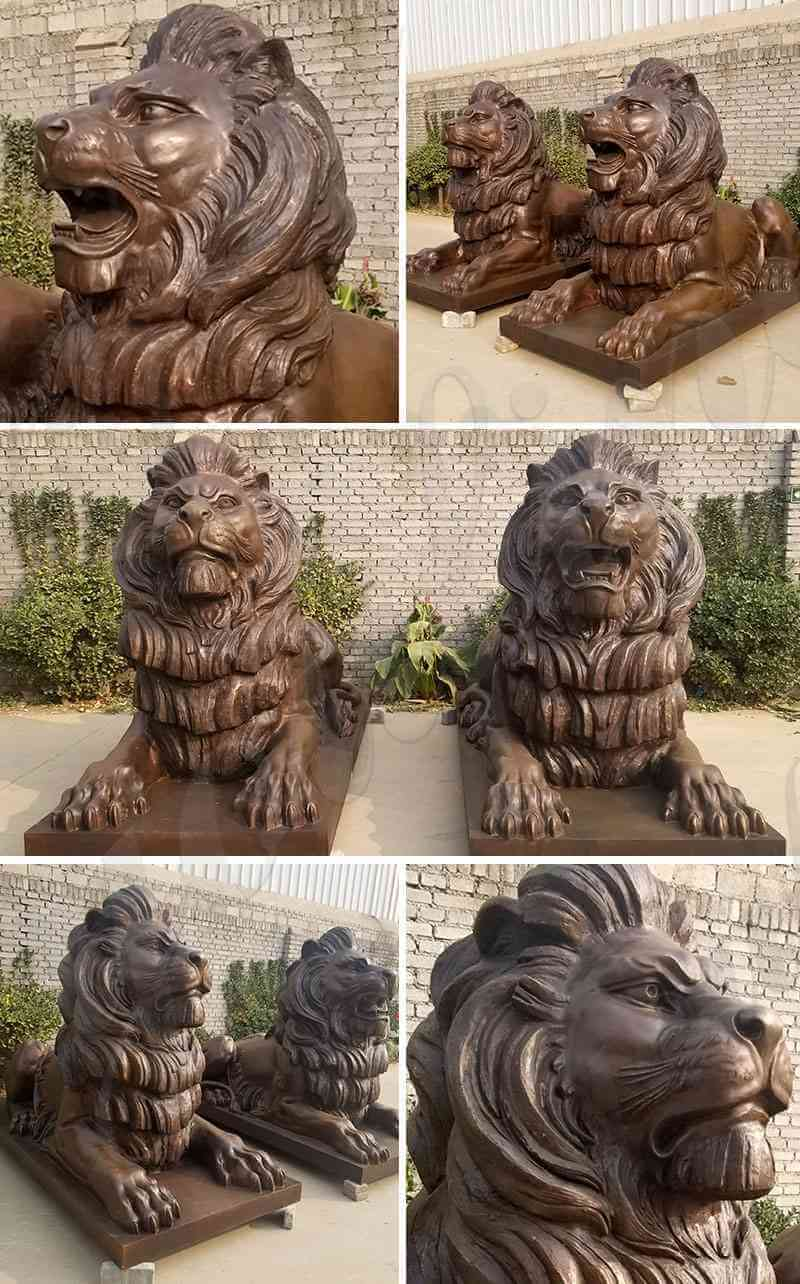 bronze-lion-sculpture-for-driveway