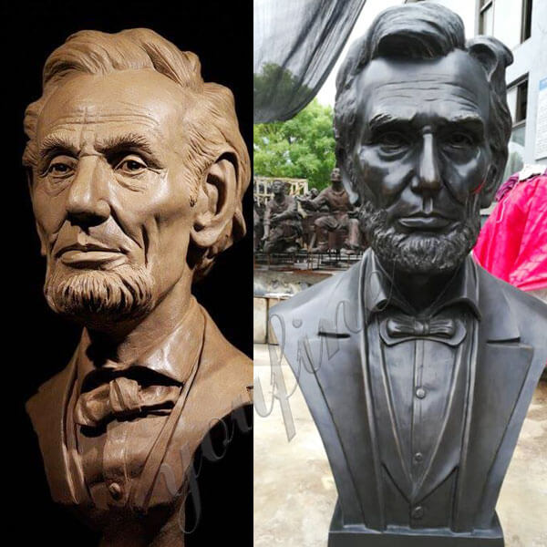 Custom Bust Statue 3 feet Bronze Abraham Lincoln bust for Sale