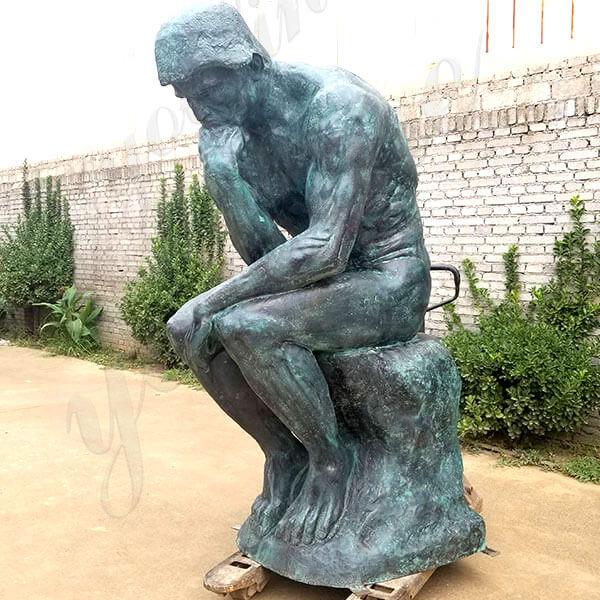 famous Augusto Rodin bronze The Thinker sculpture Statue replica for sale Museum replica