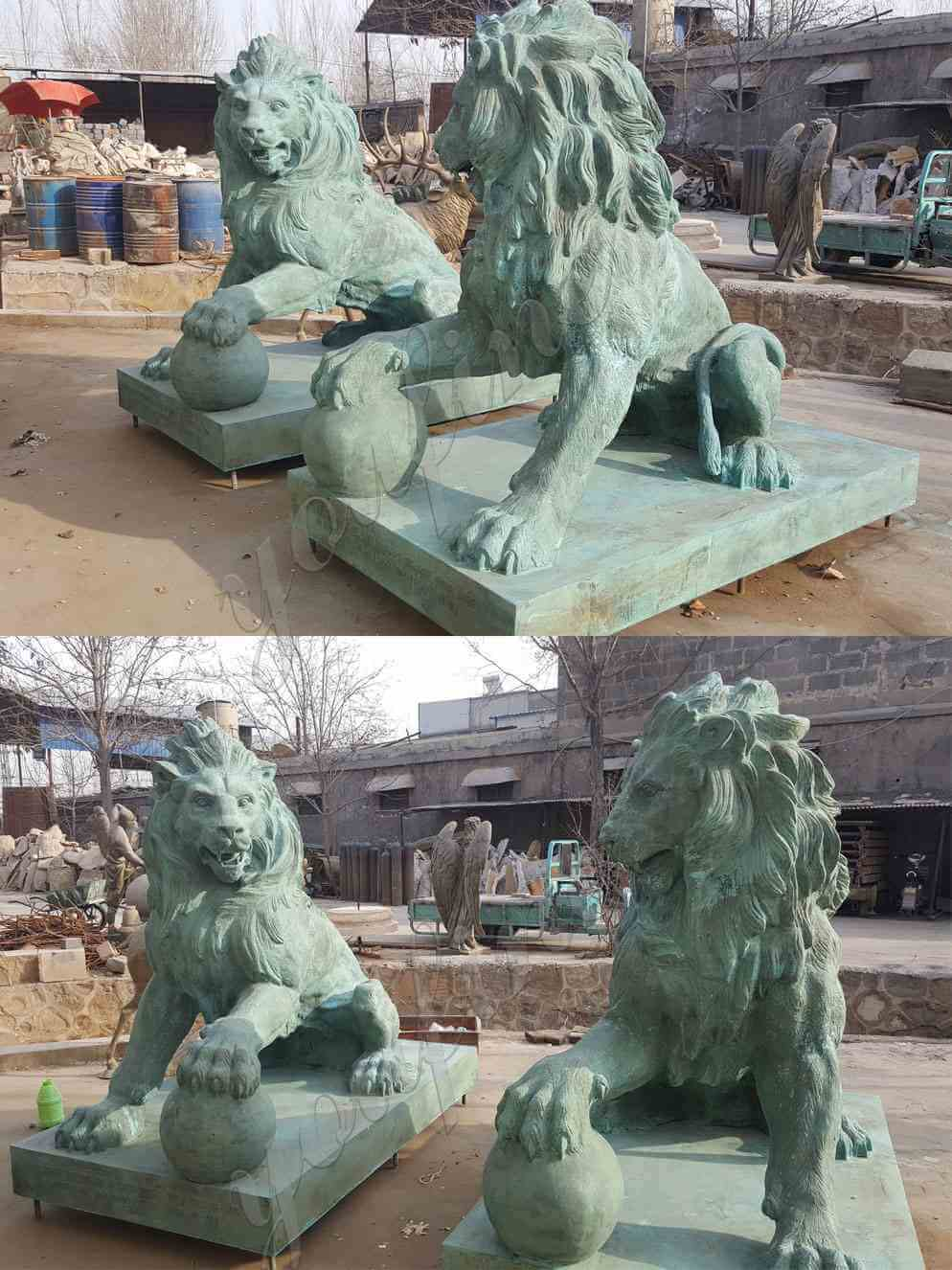 life size lion statue for home or driveway front porch for sale