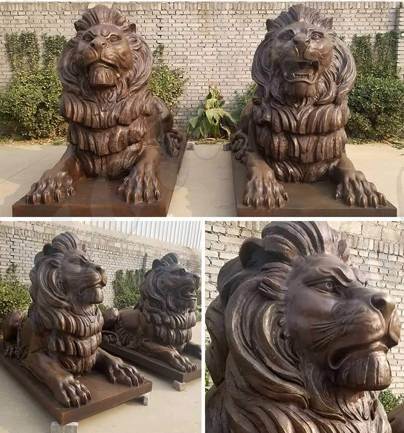 outdoor-custom-bronze-pair-of-metal-guardian-lion-statue-for-front-gate