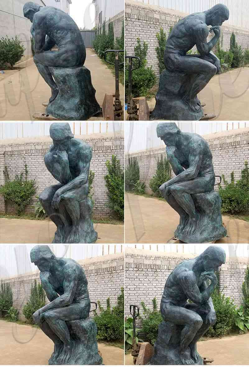 outdoor famous Thinker Sculpture Replica for sale museum replica