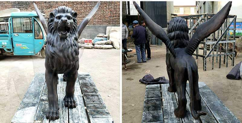 outdoor-life-size-bronze-black-lion-statue-sculptures-for-diverway