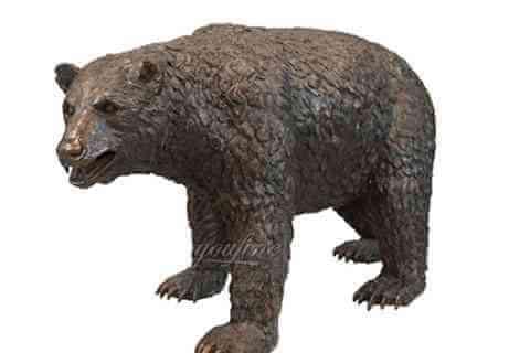 BOKK-658 large black bear sculpture for garden yard ornament