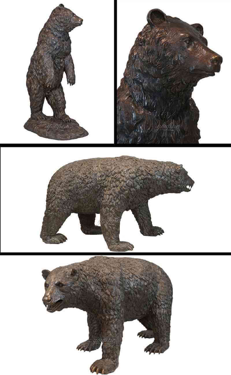 large black bear sculpture for garden yard ornament