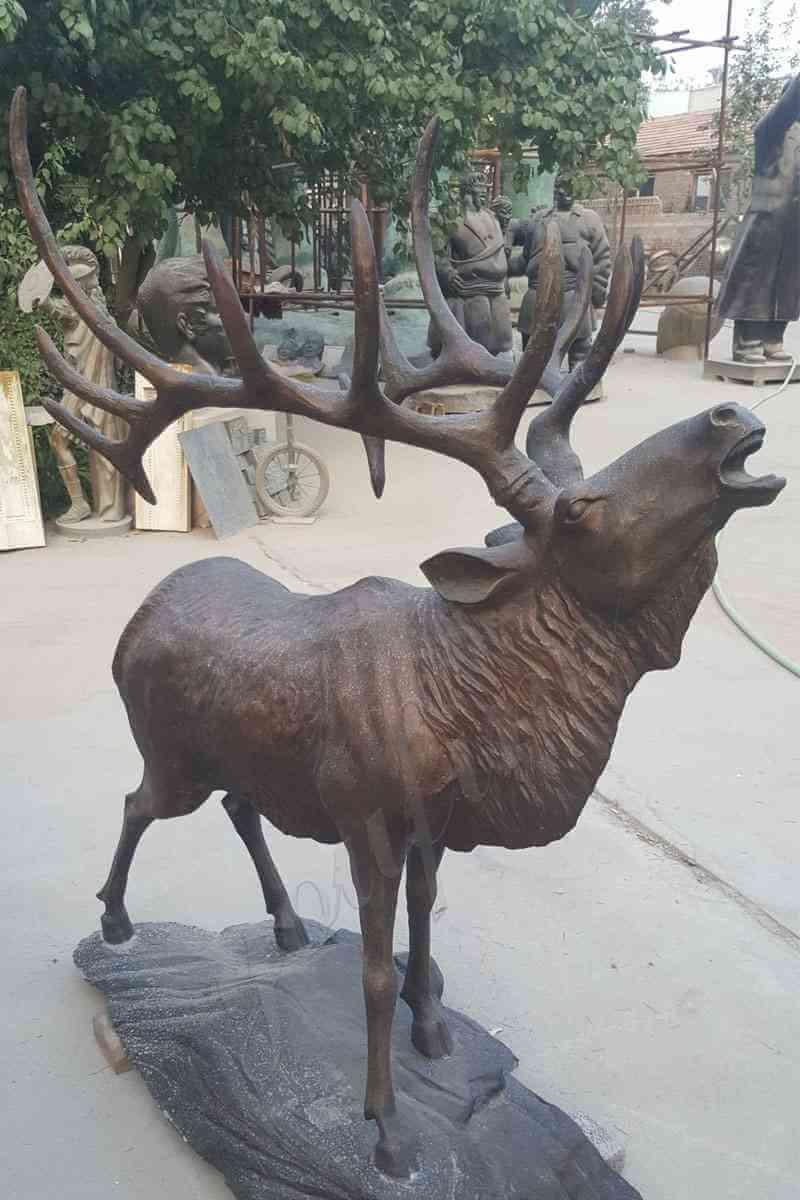 life-size-bronze-deer-sculpture-elk-animal-statue-for-sale