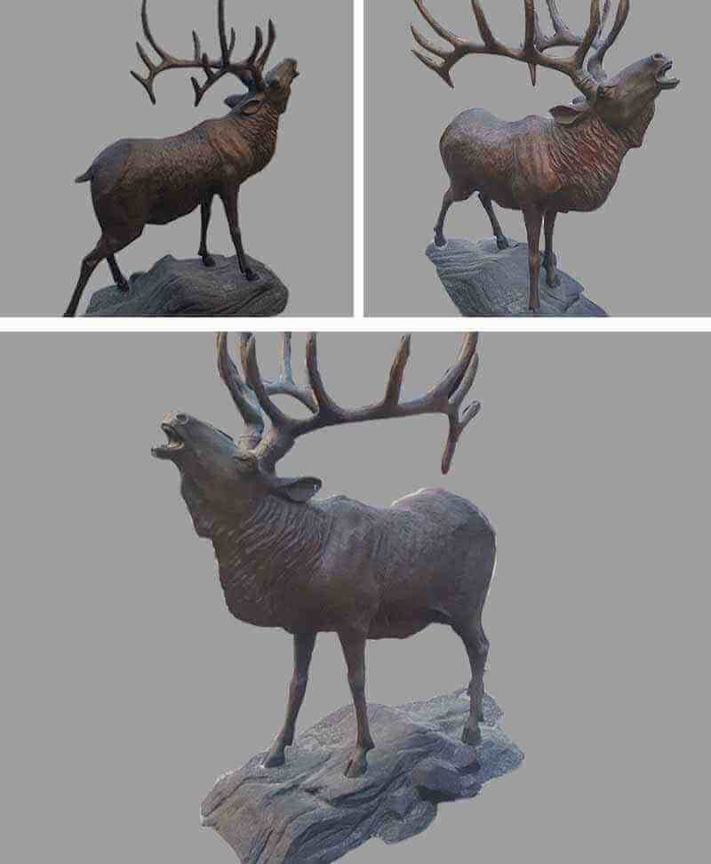 life size bronze deer sculpture elk animal statue for yard garden ornaments