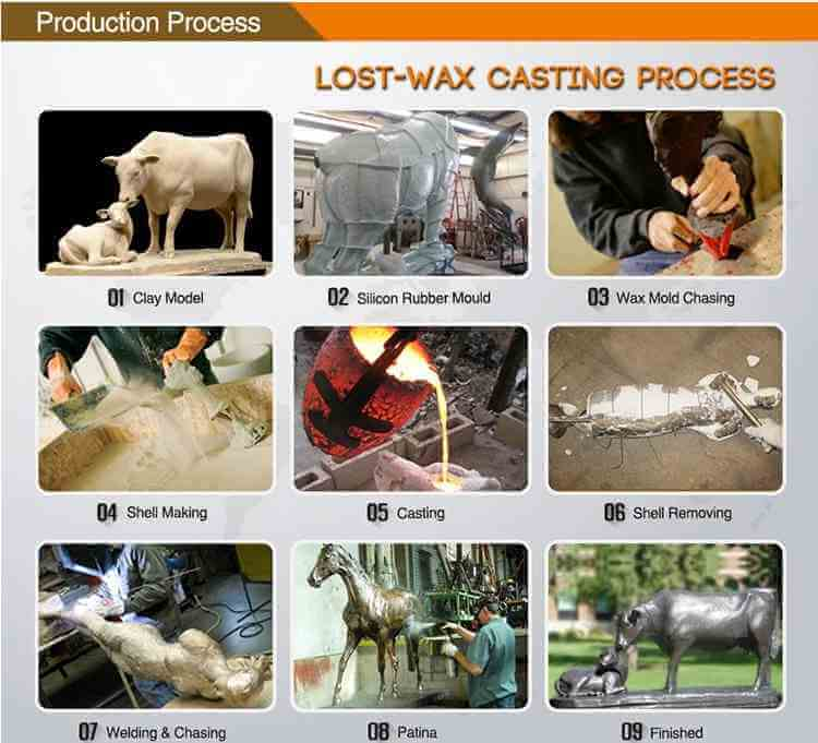 lost-wax-casting-bronze-horse-sculptur-foundry