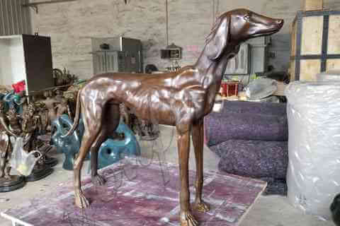 BOKK-651 Outdoor Life Size Greyhound Statue for Sale