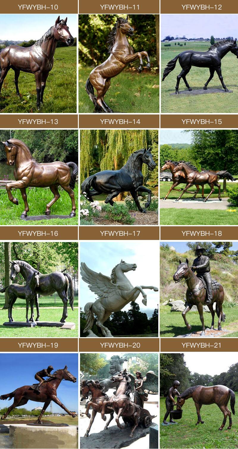 Racing Horse Statues Black Horse Sculpture for Sale BOKK-678