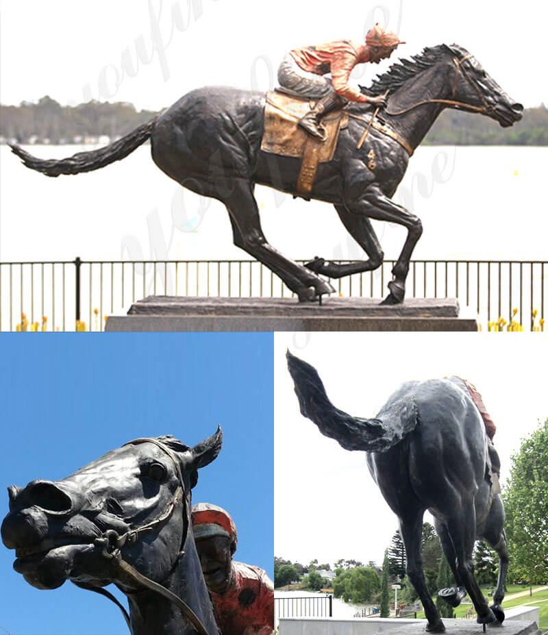 BOK-678 10ft horse statues black caviar statue sculpture for sale