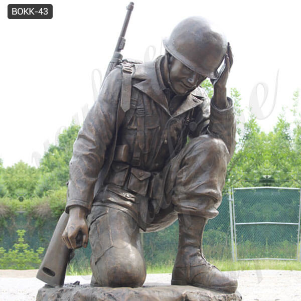 BOKK-43 life size custom bronze army soldier statue for sale