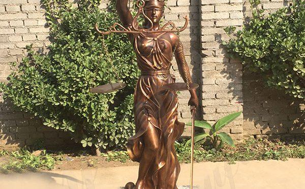 BOKK-681 Bronze Large Blind Scale Lady Justice Sculpture for Sale