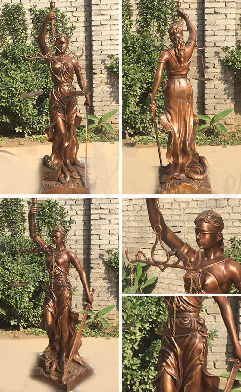 Bronze Blind Justice statue for sale