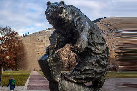 BOKK-665 Life size custom bronze bear for sale