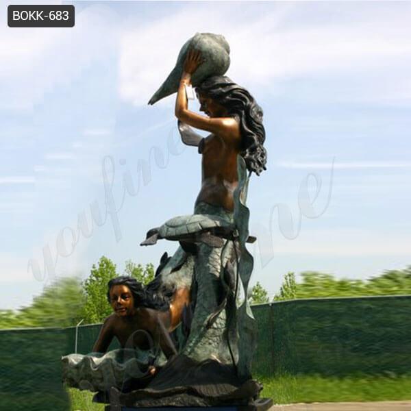 BOKK-683 Bronze Mermaid Statue Mermaid Fountain for Sale