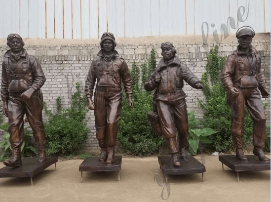 group of bronze army soldier statue monument for sale