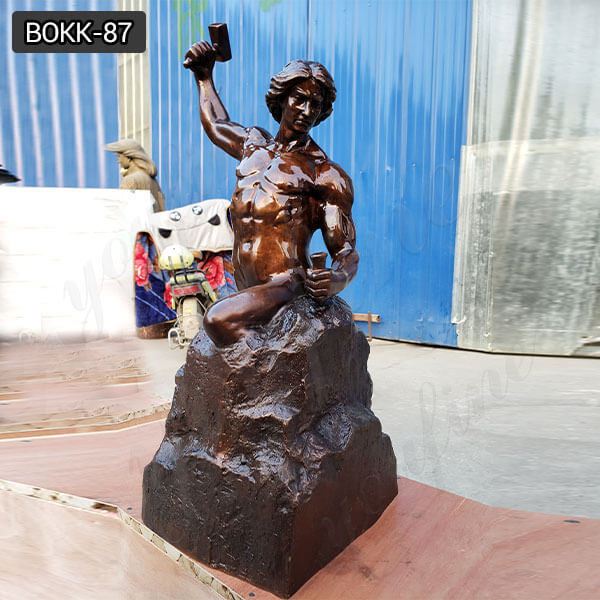 "24"" Bronze Self Made Man Statue for Table/Desktop"