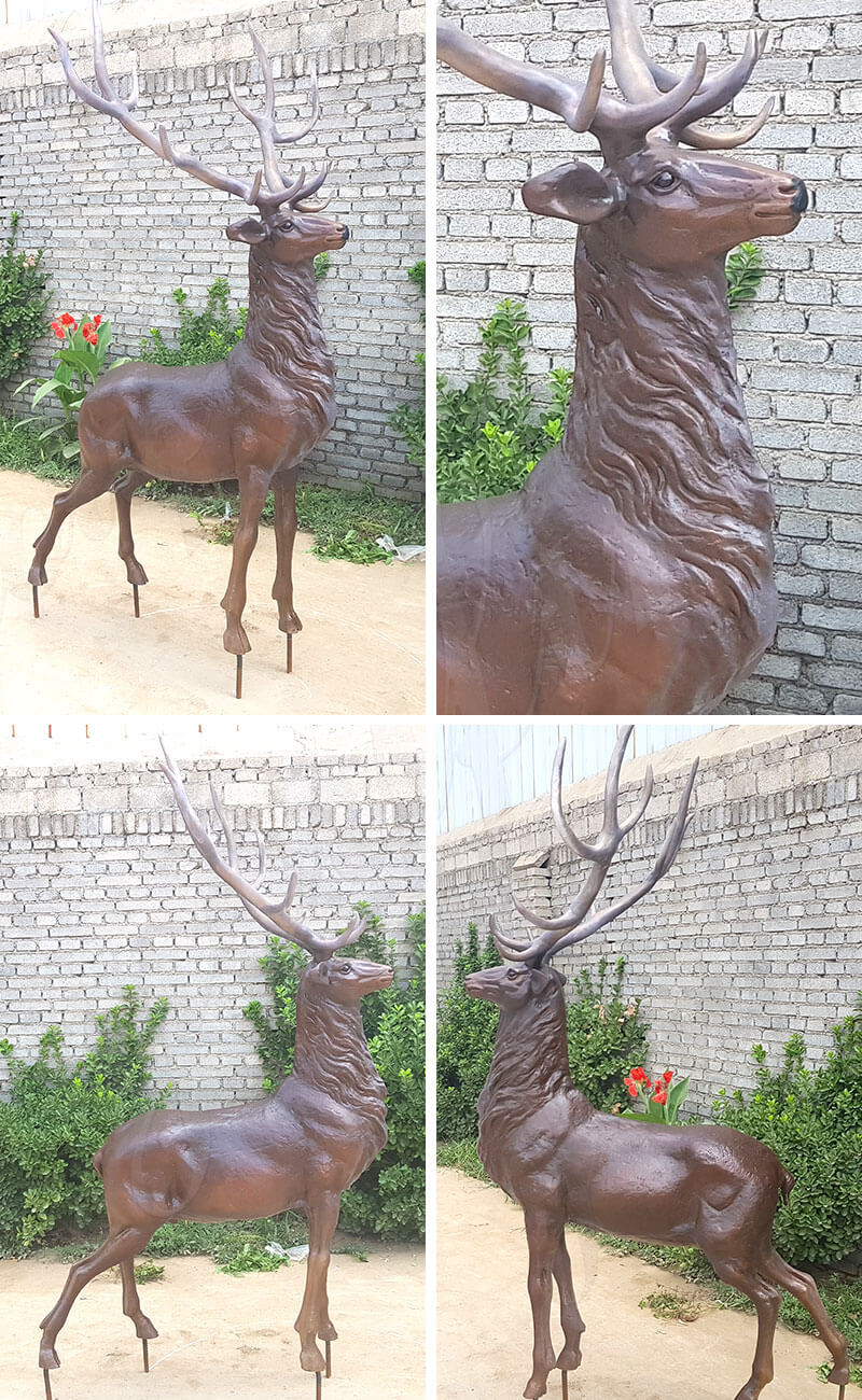 life size Bronze Elk Statues Stag Deer Sculptures for Sale