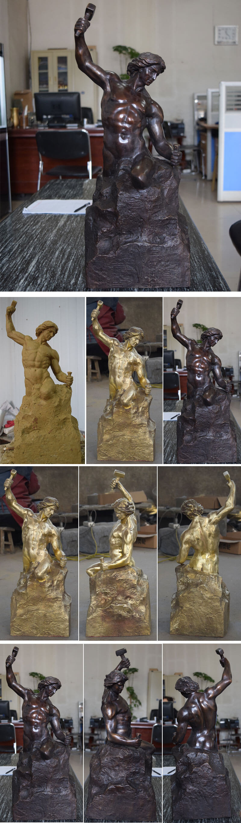 Bronze Self Made Man Statue replica