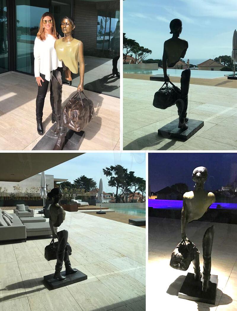 Full Size Bronze Bruno Catalano Sculpture Replica Outdoor Traveler Statue for sale
