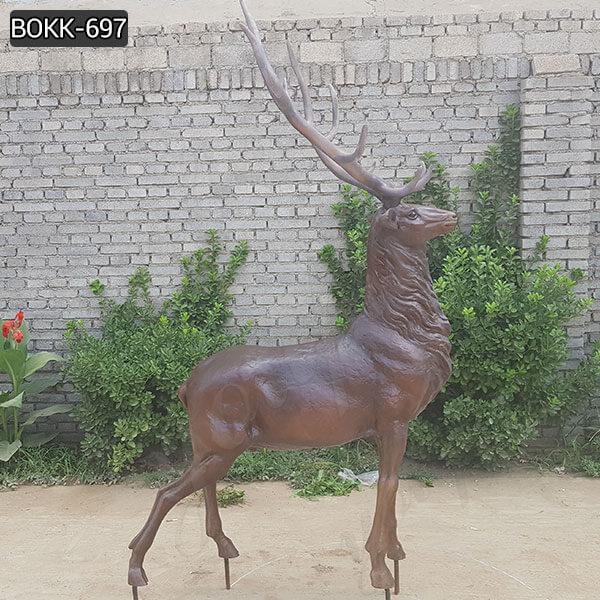 BOKK-697 Outdoor Life/Full Size Bronze Elk Statues Stag Deer Sculptures for Sale