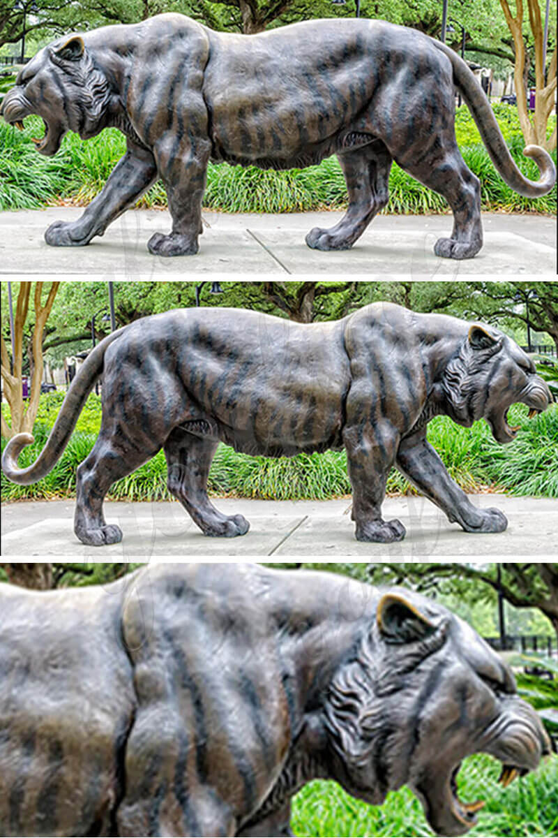 life size bronze tiger statue