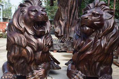 Hot-selling Modern Garden Decoration Large Bronze Lion Sculpture Animal Sculpture MOKK-448