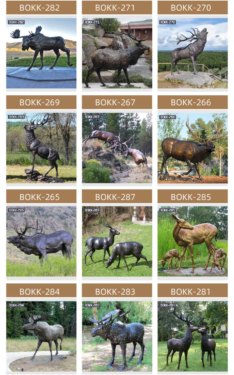 Outdoor Garden Lawn Bronze Moose Statue Bronze Animal Statue for Sale