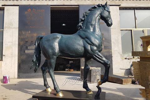 Online Large Outdoor Bronze Horse Art Sculpture Decoration for Sale BOKK-76