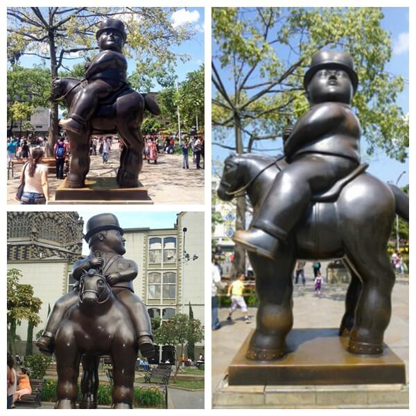 Outdoor Large Bronze Fernando Botero Sculpture Bronze Horse Sculpture for Sale BOKK-216